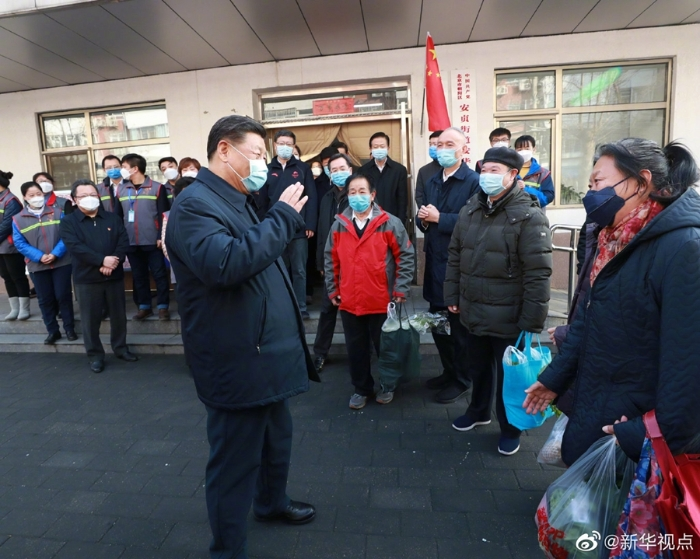 习大大在北京调研引导新冠肺炎疫情防控工作6